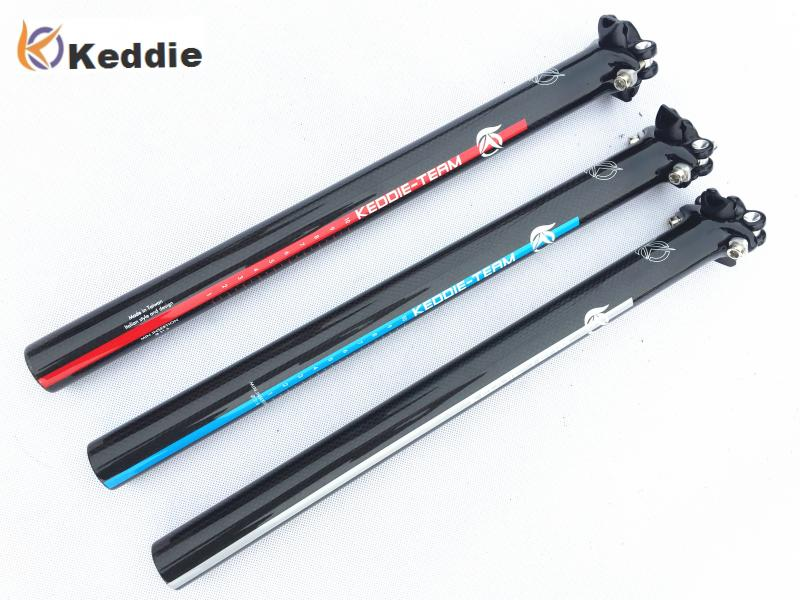 Keddieb Newest Mountain Bicycle Carbon Seatpost Road Carbon Fiber Bike Seatposts MTB Parts 27.2 30.8 31.6 * 350 400mm
