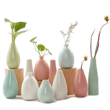 Modern fashion ceramic vases Blue,pink,yellow,white Flower Vase desk Classic crafts Household Wedding Decoration
