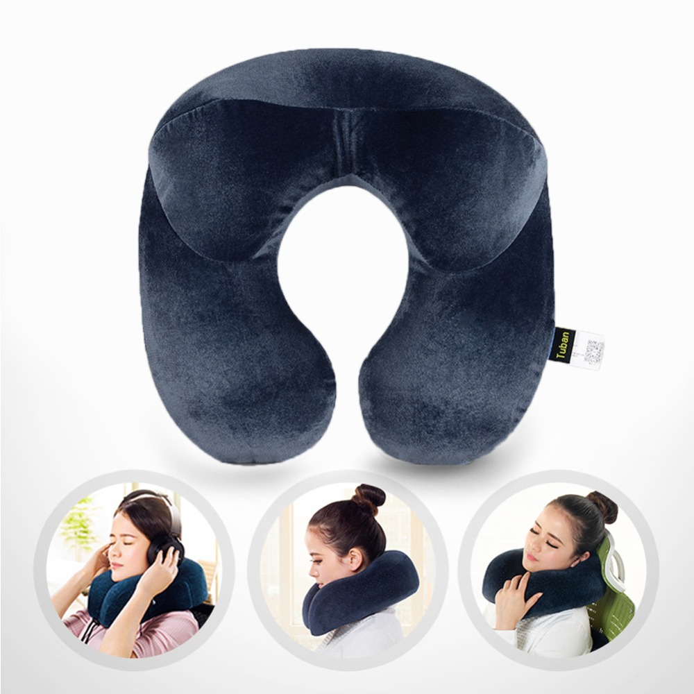 Travel Neck Pillow Memory Inflatable U Shaped Pillow