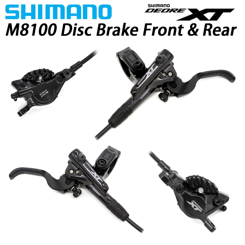 Shimano XT M8100 M8000 Disc Brake Levers w Caliper Hidraulic Disc Brake MTB ICE TECH Left