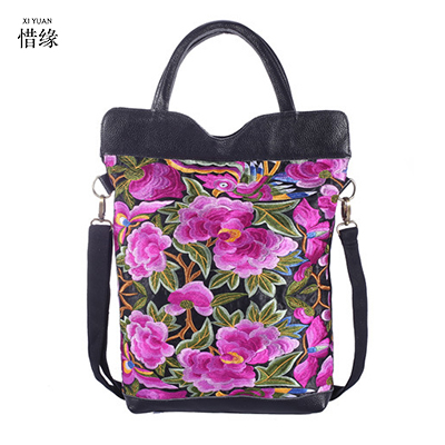 XIYUAN BRAND women 100% pure handmade chinese style Ethnic Embroidery Handbags Large Shoulder Bag Printing Ladies Tote Bags chinese style genuine leather bag women handbag embroidery ethnic summer fashion handmade flowers ladies tote shoulder hand bags