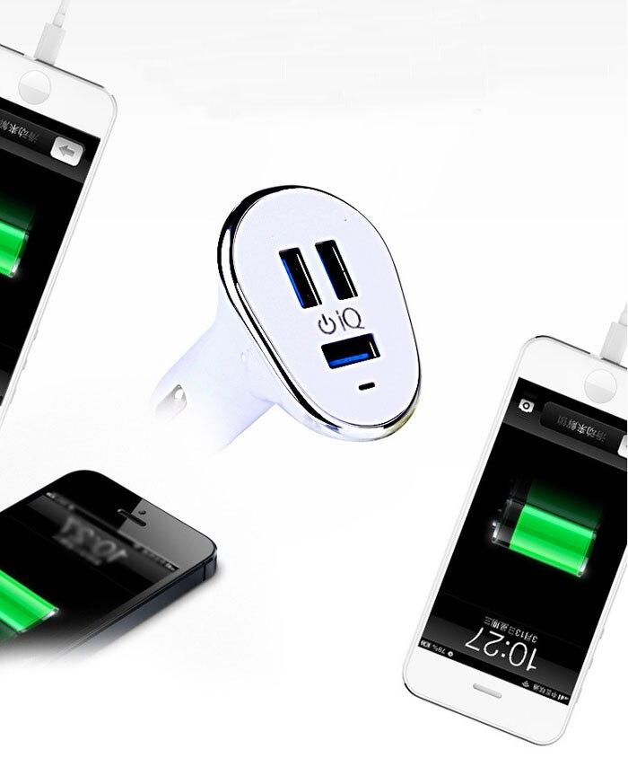 2A 1A 6.3A Max 3 USB Mobile Phone USB Car <font><b>Charger</b></font> Lighter For Samsung <font><b>Galaxy</b></font> Grand Prime G530H/Mega 2/S4/<font><b>S5</b></font>/<font><b>S5</b></font> Active/<font><b>S5</b></font> Neo/E7