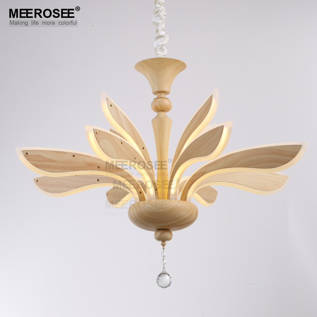 Creative acrylic led pendant light modern led wooden lamp new design lustre hanging lamparas de techo