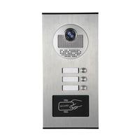 YobangSecurity Metal Aluminum Outdoor RFID Access Door Camera For 3 Units Apartment Video Intercom Doorbell Door