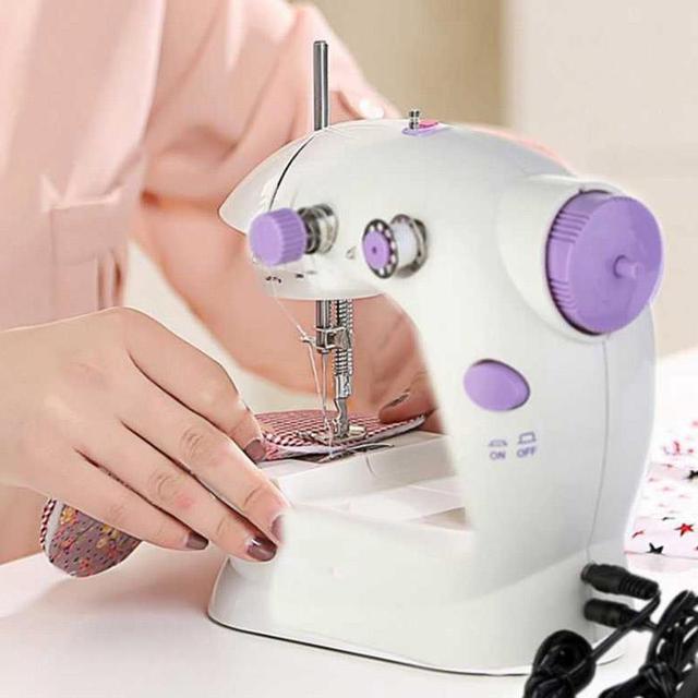 Sewing Machine Mini Portable Desktop Handheld Sewing Machines Dual Enchanting Portable Mini Electric Handheld Sewing Machine