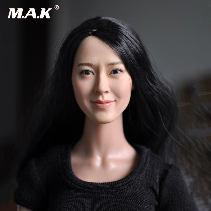KM13-77 1/6  Head Carving Female Figure Head Juguetes Head Sculpt Bonecos Colecionaveis For 12 Action Figure Doll Toys 1 6 scale figure accessories doll female head for 12 action figure doll head shape fit phicne