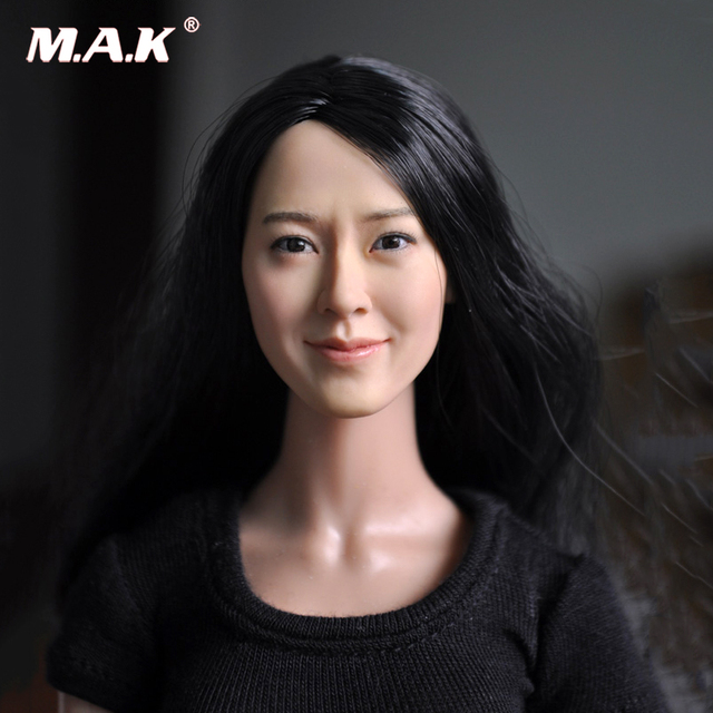 KM13-77 1 6 Head Carving Female Figure Head Juguetes Head Sculpt Bonecos  Colecionaveis For 12