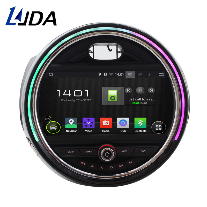 LJDA 1 DIN Android 4.4 Car CD DVD Player For BMW Mini Cooper 2015 2016 GPS Navigation Multimedia Audio Radio 1080P Stereo WIFI
