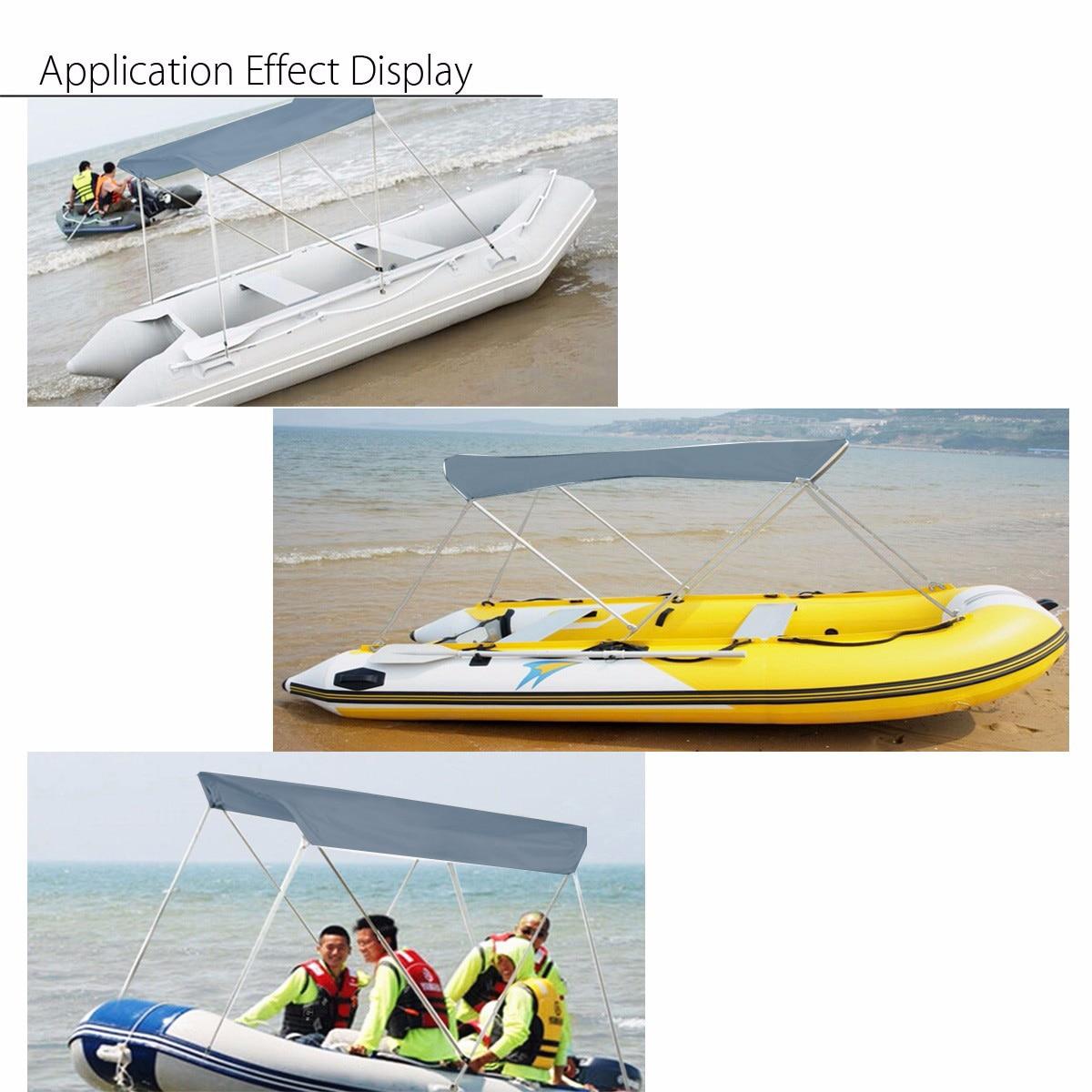 Gonfiabili Barca Ripari per il sole Barca A Vela Tenda Top Barche a remi  Copertura Tenda Da Sole Tenda Pioggia Baldacchino Surf Kayak Canoa Barca  Kit Top in ... 0ad5b80f6d5