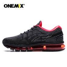 Купить с кэшбэком Onemix Man's Running Shoes Outdoor Unique Shoe Tongue Design Breathable Sport Shoes Athletic Sports Shoes Weave Original Shoes