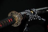 Высокое качество глины закаленное 1095 высокоуглеродистой стали RAY кожи SAYA японский самурай катана меч