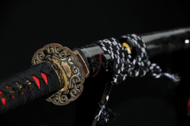 HIGH QUALITY CLAY TEMPERED 1095 HIGH CARBON STEEL RAY SKIN SAYA JAPANESE SAMURAI KATANA font b