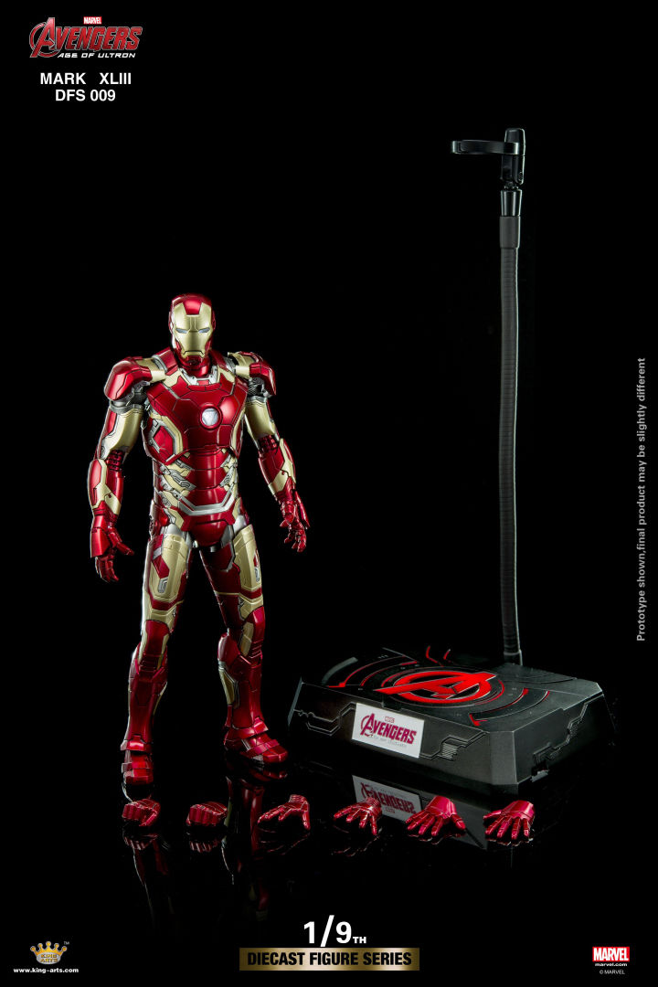 King Arts DFS009 1//9 Iron Man MK43 Diecast collection Movable male Action Figure