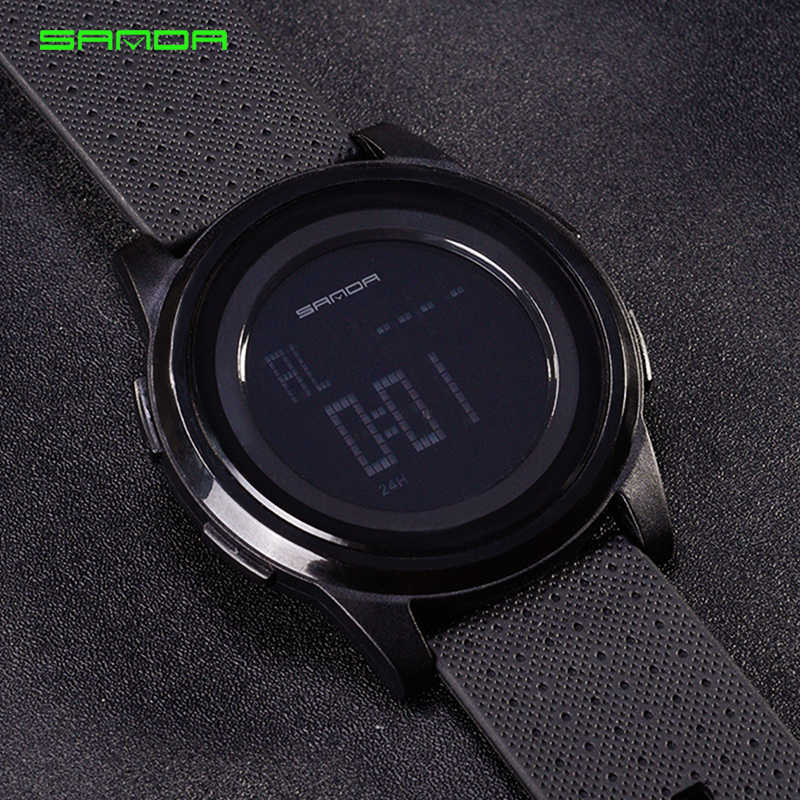 7ac1ef9a93b ... SANDA Super Slim Digital Watch Men Waterproof Led Electronic Men s  Watches Ultra Thin Military Watches Relogio ...