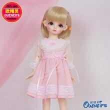 BJD SD Кукла Одежда 1/6 милое розовое платье принцессы для девочек для Гари йосд тело YF6-02 куклы аксессуары