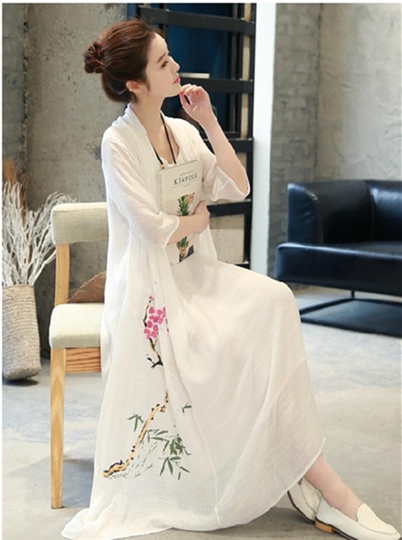 2020 traditional chinese dress mujer vestido women's satin long cheongsam qipao flower plum blossom qi pao chinese dress