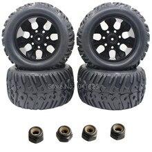 4 Unidades Ruedas Neumáticos Para Camiones Monstruo DEL RC Hex 12mm fit hsp 1/10 off road nitro potencia tyrannosaurus 4wd 94108 94188