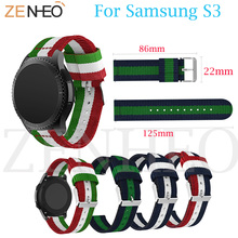 Colorful Nylon Strap For HUAMI Amazfit Stratos 2/2S Band Strap for Samsung Gear S3 Classic/ Frontier Watchband 22mm Smart Watch 22mm genuine leather watch strap for samsung gear s3 classic frontier band for samsung r760 r770 huami amazfit pace stratos 2 1