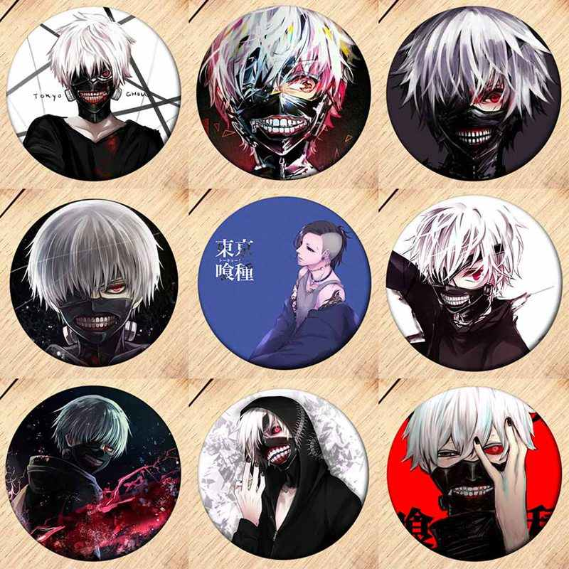 1PCS Japan Anime Tokyo Ghoul Album Brooch Pin Badge Accessories For Clothes Hat Backpack Decoration Men Women Boy Girl Gifts