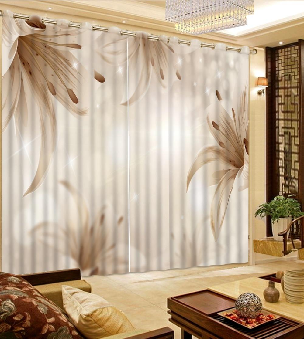 Europese Mode 3D Gordijnen woonkamer bloem grijs romantische ...