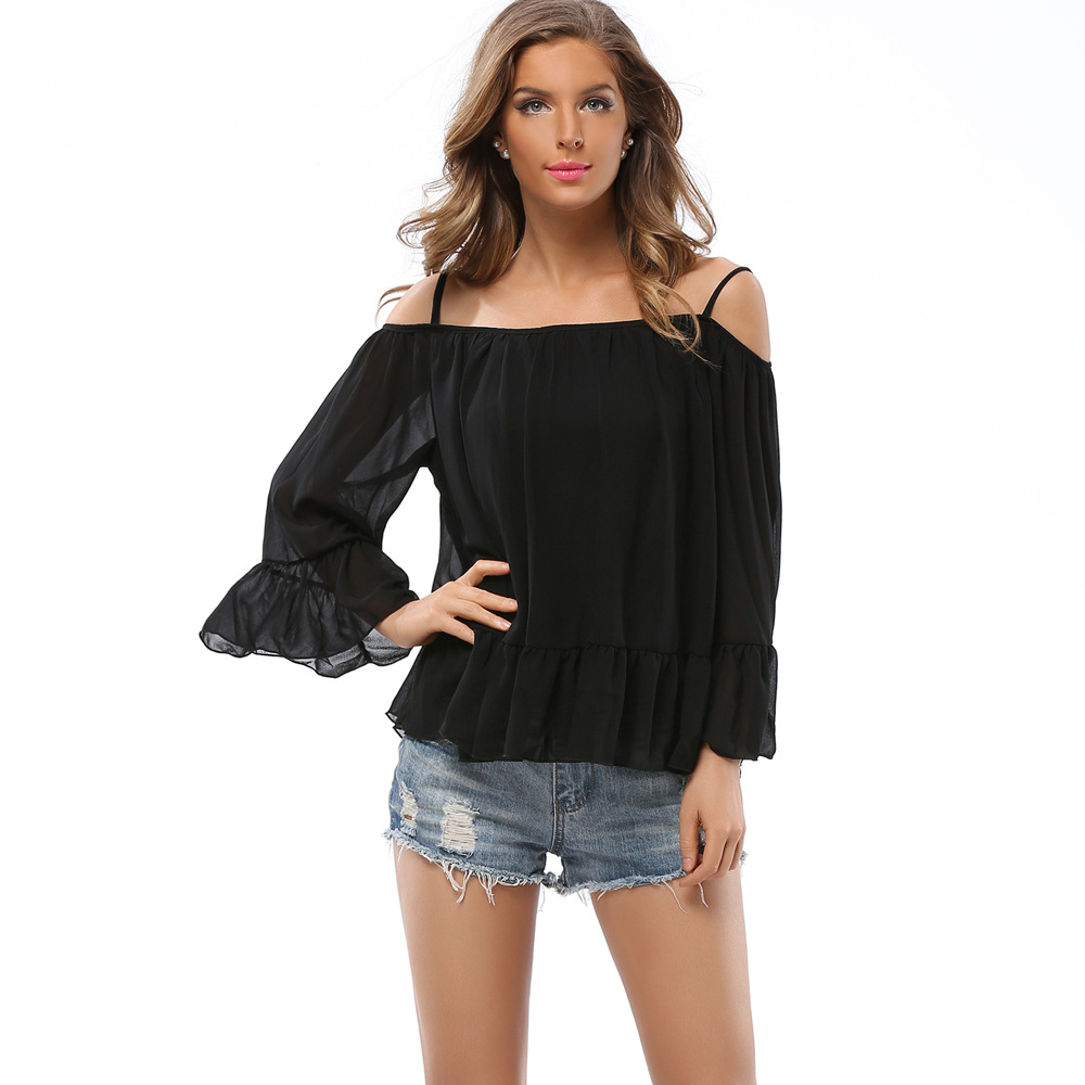 Women 's Sexy Summer T Shirts Slash Neck Tumblr Casual ...