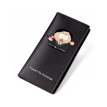 Cute South Park Wallet Black PU Short Purse Wallet Men Luxury Brand High Quality Credit Card Long Purse