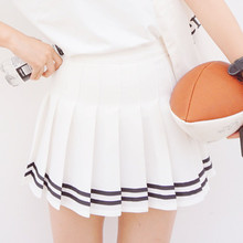 Spring New girls's Preppy Style Pleated Mini Skirts Female Solid Color Sweet Pleated Skirt Casual Short Skirts Fashion TT531