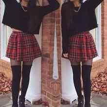 Для девочек, Матросская шотландская клетчатая школьная форма, плиссированная юбка, хлопок, тартан, новинка