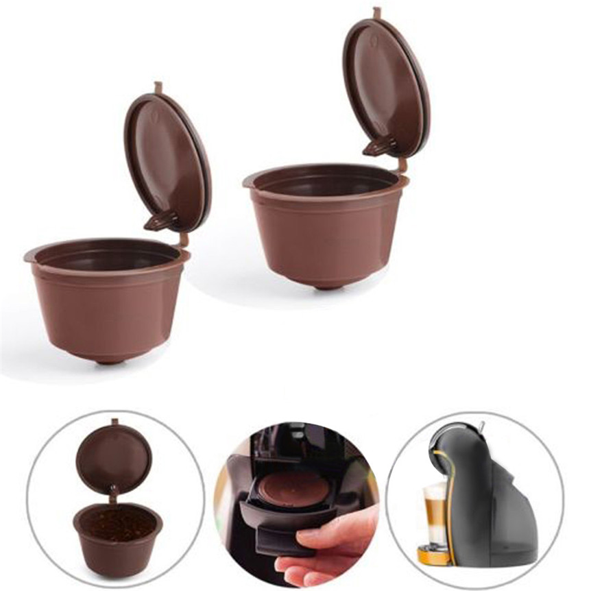 lovely pet 4pcs Reusable Coffee Capsules Cup Filter For