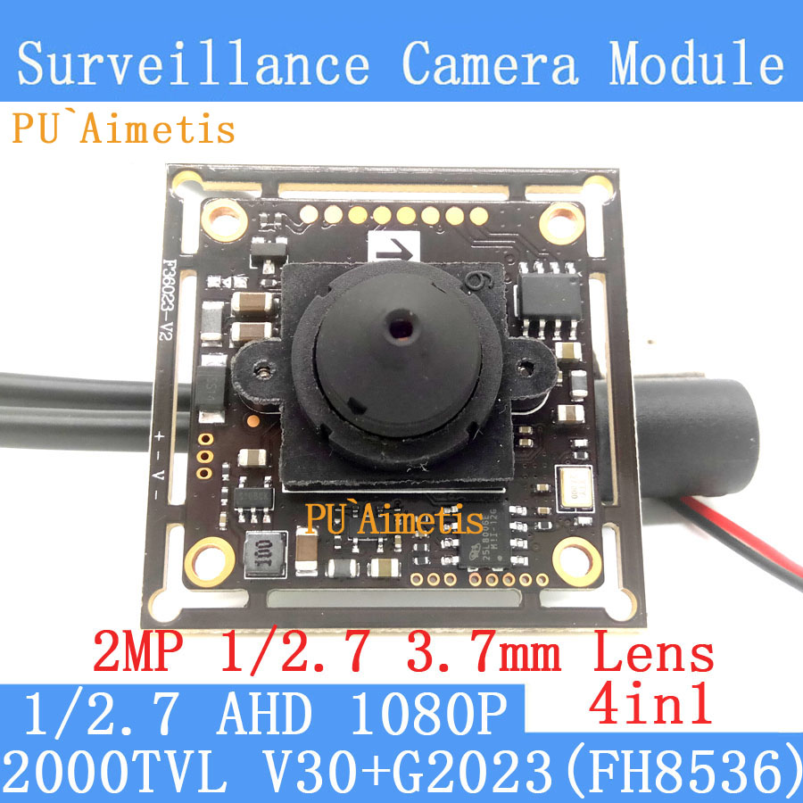 PU`Aimetis 4in1 2MP 1920*1080P AHD CCTV Mini Night Vision Camera Module 3MP 1/2.7
