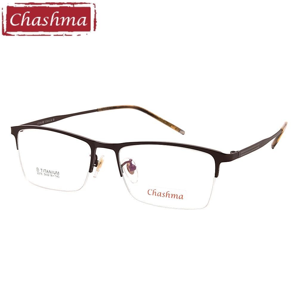 Chashma New Style Pure Titanium Eyeglasses Half Spectacle Quality Trend Glasses Optical Eyewear Men Progressive Frames