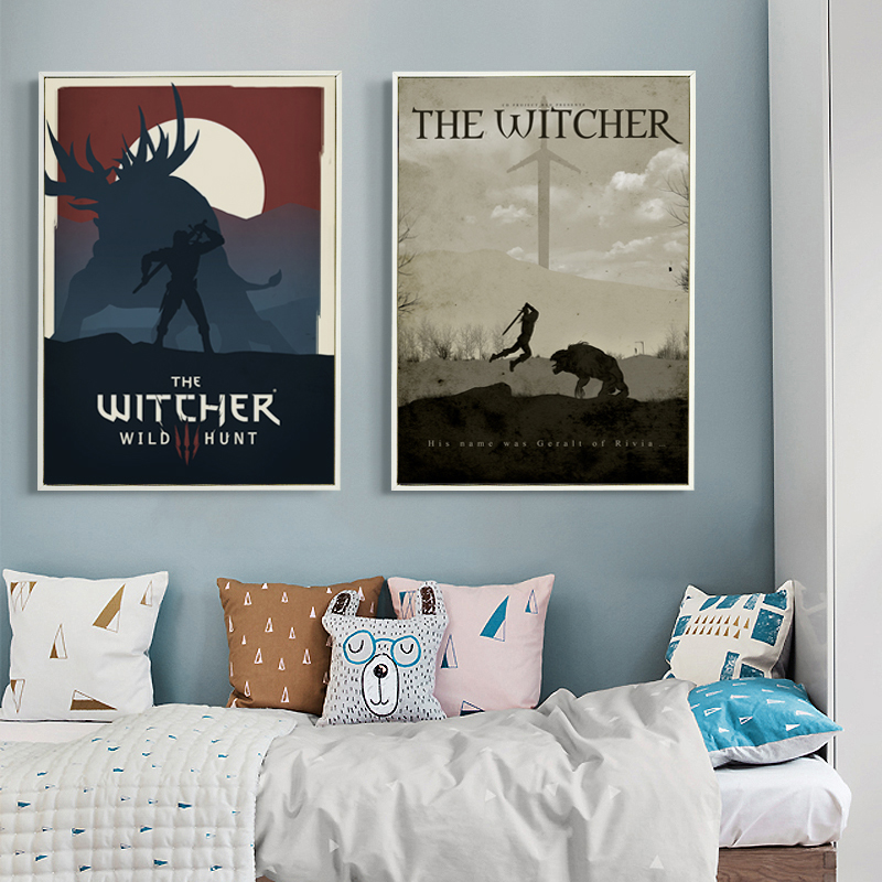 Bianche Wall Modern Simple Game Witcher 3 Canvas Painting Art Print Image Poster Wall Decoration