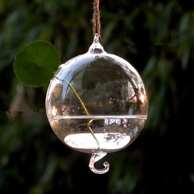 Diameter 8cm 10cm Double Hock Glass Globe Vase Glass Terrarium