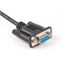 Adaptador USB a serie FTDI ft232r a RS232 DB9, adaptador hembra, módem nulo Serial RS232, Cable cruzado
