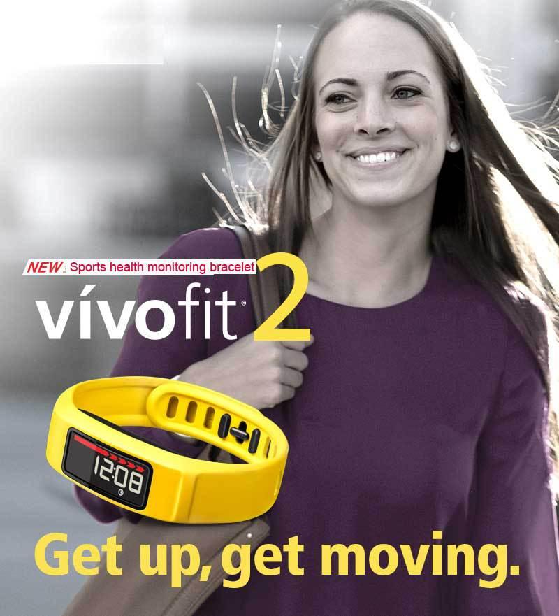 Original Vivofit2 Smart Wristband Sport Bracelet for Garmin Vivofit 2 Activity Tracker Step  50m waterproof free shipping tisa sport step n9099