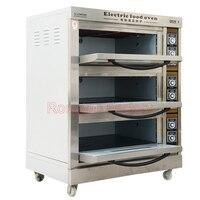3 camadas-9 forno de pão forno comercial bolo de pizza pão ovo tartes forno