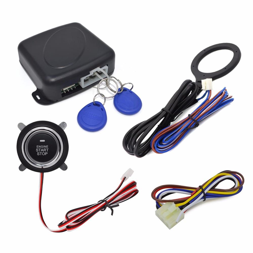 Car Start stop Button RFID Engine Lock Ignition Starter Keyless Entry System Push Button Engine Start Stop with hidden lock