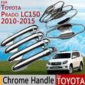 Para Toyota Land Cruiser Prado 150 LC150 Porta Cromo Punho Covers Acessórios Car Styling 2010 2012 2014 2015 2016 J150 FJ150