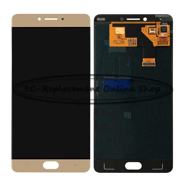 100% Tested High Quality Gold 5.5 inch For GiONEE QMobile M6 GN8003 LCD Display + Touch Screen Digitizer Assembly Replacement