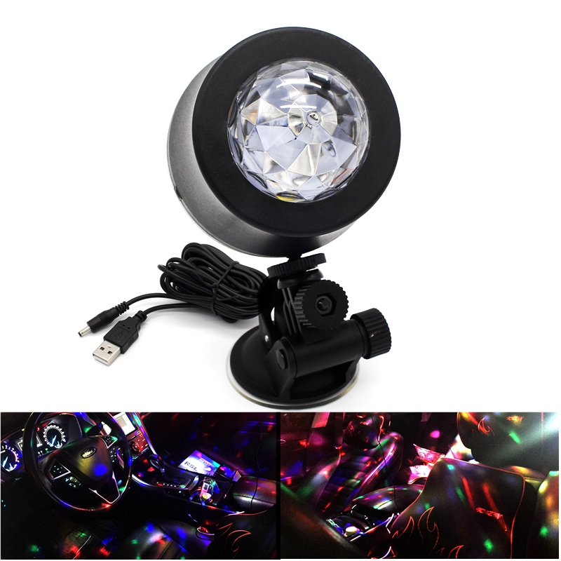 led car dj light source music control strobe rgb mp3 club disco party magic ball stage rotating. Black Bedroom Furniture Sets. Home Design Ideas