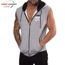 Codylundin 2018 Fitness Men Bodybuilding Sleeveless Muscle Hoodies Workout Clothes Casual Cotton Tops Hooded