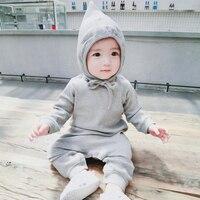2018 Spring Autumn Long Sleeve Baby Romper Cotton Children Clothing 6M 3T Baby Jumpsuit Rib Newborn