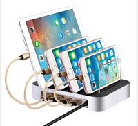 4 Ports USB Charger Hub Universal Multi Ports Charging Station Fast Charger Docking Adaptor IPhone IPad