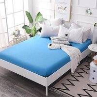 140x200 см синяя простыня с матрасом с эластичной резинкой с принтом простыня горячая Распродажа постельное белье