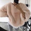 Мода женская осенне-зимней моды плюш бархат хеджирования Толстовки