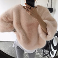 Fashion women 's autumn and winter fashion plush velvet hedge Sweatshirts