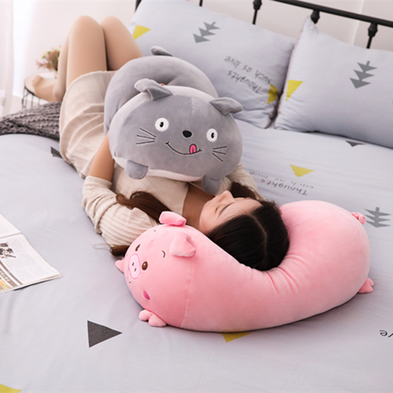 90cm Soft Animal Cartoon Pillow Cushion Cute Fat Dog Cat Totoro Penguin Pig Frog Plush Toy Stuffed Lovely kids Birthyday Gift lovely cartoon plush toy totoro stitch michey marie cat cat donald duck dumbo tissue box cover paper towel cases gift 1pc