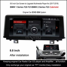 Android 8.1 Car Screen to Upgrade Multimedia Player for BMW 1 Series F20 F21 2 F23 Cabriolet Original EVO ID6
