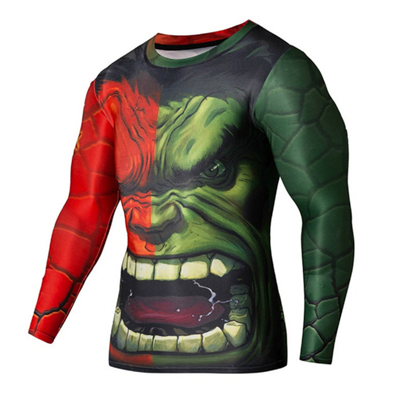 Super hero avengers hulk 3d nadrukiem t-shirt mężczyzn 3 clothing męskie crossfit fitness tee s-4xl