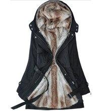 Plus Size S-3XL New Women's Casual Thicken Faux Fur Liner Winter Warm Cotton Jacket Coat,Parkas For Women Winter,3 Colors,WPC01
